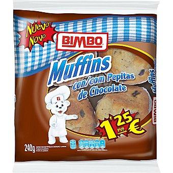 Bimbo Muffins con pepitas de chocolate Bolsa 240 g