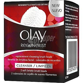 Olay Regenerist Sistema de limpieza facial 3 áreas de cuidados intensivos cabezales de cepillo recambio 2 unidades