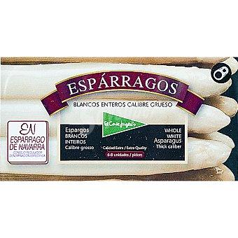 EL CORTE INGLES Esparragos blancos muy gruesos D.O. Navarra 6-8 piezas  lata 250 g neto escurrido