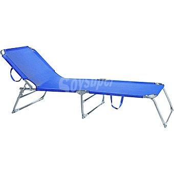 CASACTUAL Tumbona de posiciones en aluminio color azul