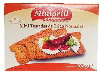 MINIGRILL Pan tostado blanco tostas mini ( rectangulares extraplanas) Caja 100 g