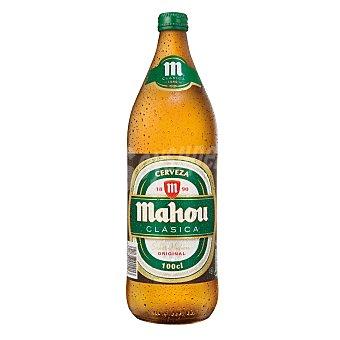 Mahou Cerveza clásica Botella 1 litro