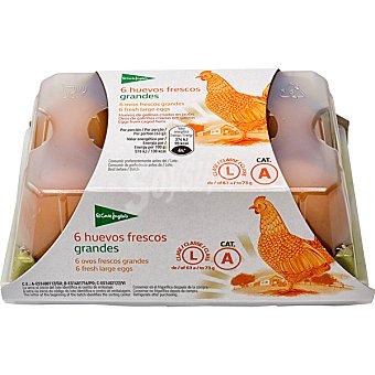 El Corte Inglés huevos blancos morenos clase L estuche 6 unidades