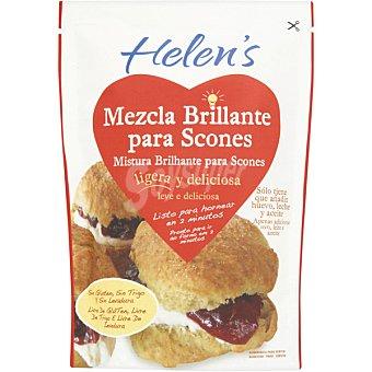 HELEN'S Mezcla para preparar bollitos scones sin gluten Envase 280 g