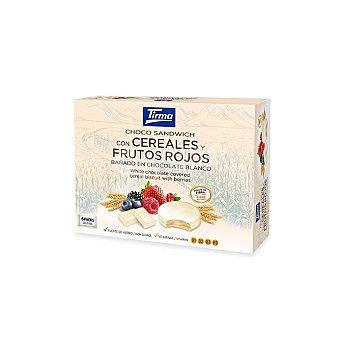 Tirma Choco Sandwich con cereales y frutos rojos bañadas en chocolate blanco Estuche 240 g