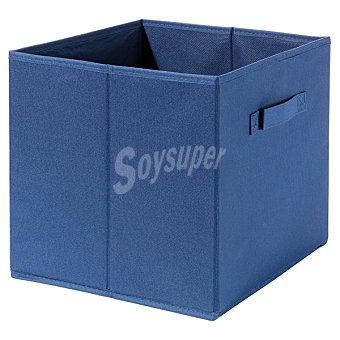 CASACTUAL Caja Plegable con asa en color azul 23 l