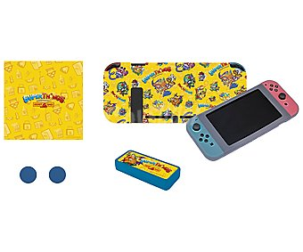 INDECA Superthings Kit de protección para Nintendo Switch con diseño original Superthings indeca.