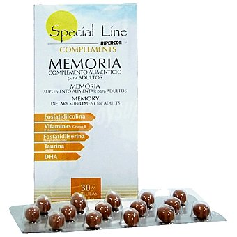Special Line Complemento alimenticio para la memoria adultos ápsulas Envase 30 c