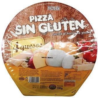Hacendado Pizza congelada sin gluten 4 quesos (mozzarela,gouda grana padano,edam) 390 g