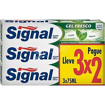 Signal Pasta de dientes gel fresco Pack 3 x 75 ml