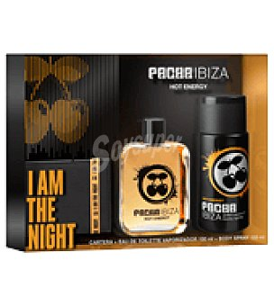Pachá Ibiza Estuche Colonia Hot Energy spray 100ml + desodorante 150 ml + cartera 1 ud