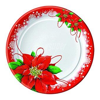 8 Platos desechables Ø 22cm decorado Navidad 8 ud