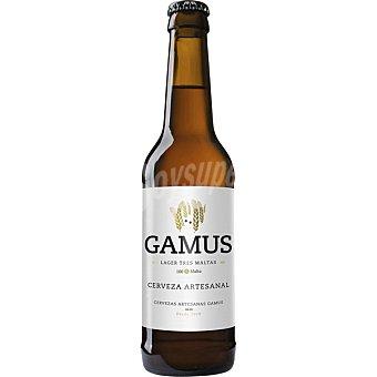 GAMUS Lager Tres Maltas Cerveza artesana de Murcia 100% Malta Botella 33 cl