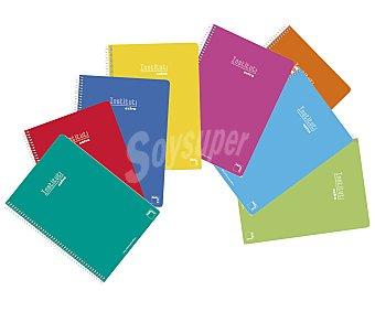 PACSA Lote de 5 cuadernos DIN A4 con cuadricula de 4x4 milímetros, 80 hojas de 90 gramos con margen, tapas duras de diferentes colores y encuadernación con espiral metálica Institut. Este producto dispone de distintos modelos o colores. Se venden por separado SE surtirán según existencias 90 gramos