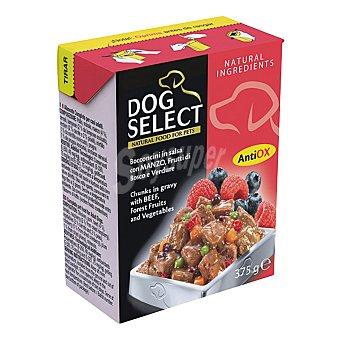 Dog Select Comida húmeda para perros adultos trozos en salsa de buey, frutos del bosque y verduras Envase 375 g