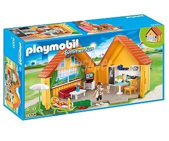 Playmobil Playset Casa de campo en maletín, incluye 2 figuras, mobiliario y accesorios, 6020 Summer Fun playmobil Summer Fun 6020 Casa de campo