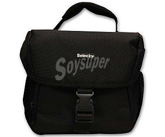 SELECLINE 841997 Estuche para cámaras grandes (producto económico alcampo), con compartimientos para accesorios, negro