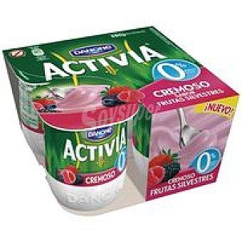 Danone Activia 0% cremoso sabor a frutas silvest. Pack 4x125 g