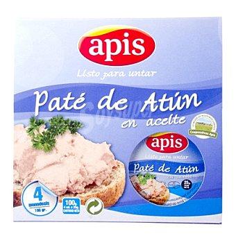 Apis Pate de atún Pack de 4x25 g