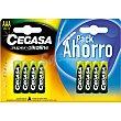 Pila super alcalina AAA (LR03) 1,5v pack ahorro blister 8 unidades Cegasa