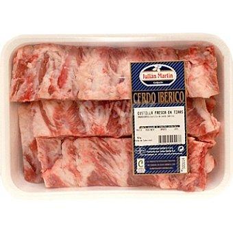 Julian martin Costillas frescas de cerdo ibérico en tiras peso aproximado Bandeja 400 g