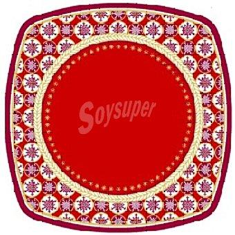 PAP STAR plato cartón angular Christmas Composition 26 cm paquete 8 unidades 26 paquete 8 unidades