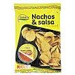 Nachos y salsa cheddar Bolsa 180 g Zanuy