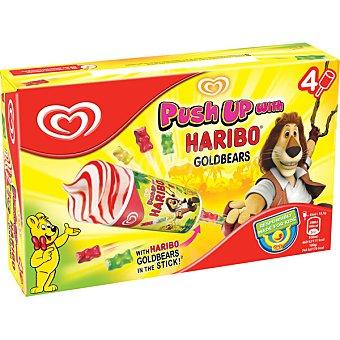 Frigo Push Up helado de vainilla con salsa de fresa y ositos de gominola en el palo 4 unidades estuche 216 ml 4 unidades