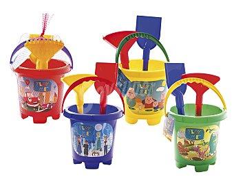 EURASPA Conjunto de juguetes de playa (pala, rastrillo...) y un cubo para transportalos y guardarlos 1 unidad