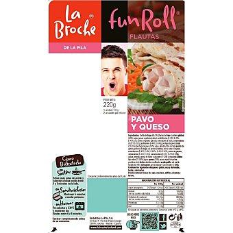La Broche fun roll flautas de pavo y queso Bandeja 220 gr