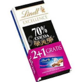 Lindt Excellence chocolate negro 70% cacao s 100 g + Gratis 1 LINDT EXCELLENCE Cookies tableta 100g pack 2 tableta