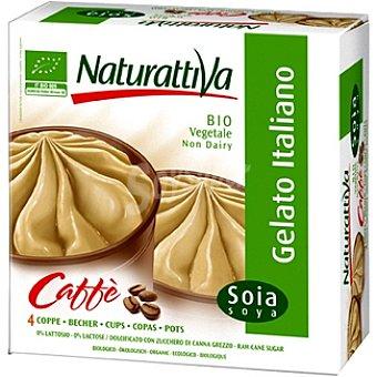 NATURATTIVA Helado de soja y café estuche 280 g Pack 4 unidades