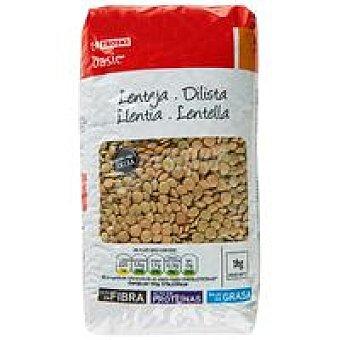 Eroski Basic Lenteja castellana extra Paquete 1 kg