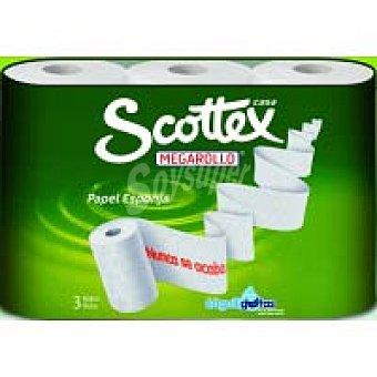 Scottex Papel de cocina megarollo Paquete 3 rollos