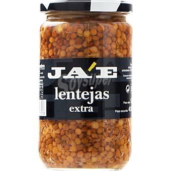 JA'E Lentejas cocidas extra Frasco 400 g neto escurrido