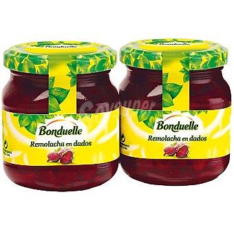 Bonduelle Remolacha roja en dados neto escurrido Pack 2 frasco 110 g