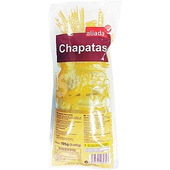 Aliada Chapatas precocidas bolsa 195 g 3 unidades
