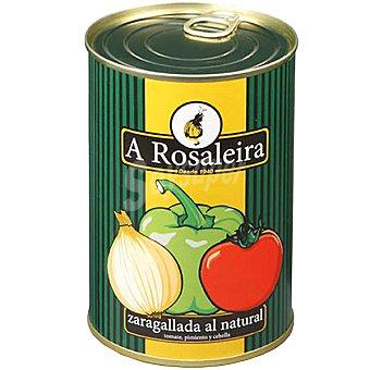 A ROSALEIRA Zaragallada al natural (tomate pimiento y cebolla) lata 350 g neto escurrido