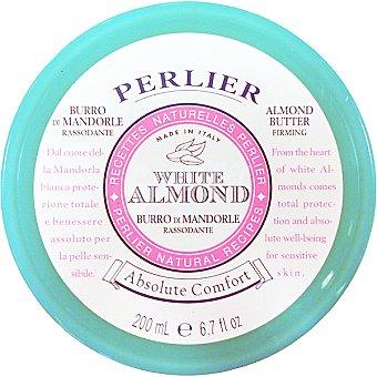 PERLIER White Almond crema corporal hidratante Tarro 200 ml