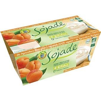 SOJADE Postre de soja + bífidus albaricoque estuche 200 g Pack 2 x 100 g