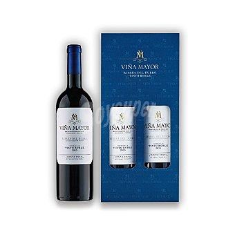 Viña Mayor Lote 74: Estuche de vino D.O. Ribera del Duero tinto roble Pack 2x75 cl
