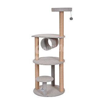 Fred & Rita Rascador para gatos soft gris cuatro alturas medidas 55x55x141 cm 1 unidad