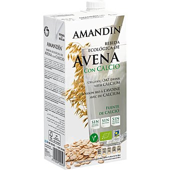 AMANDIN Bebida de avena con calcio sin lactosa ecológica envase 1 L