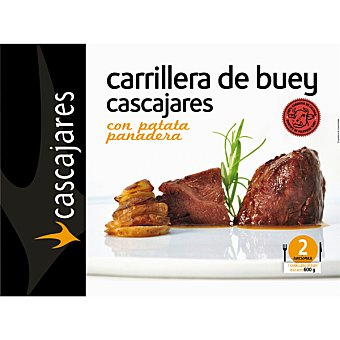 CASCAJARES Carrillera de vacuno salsa Pedro Ximénez y gratén de patatas  caja 600 g