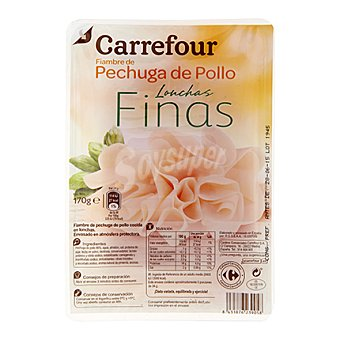 Carrefour Pechuga de pollo en finas lonchas 170 g