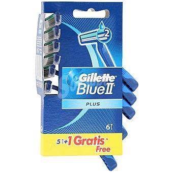 Gillette Blue II plus maquinilla de afeitar desechable piel sensible Blister 5 unidades
