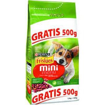 Friskies Purina Mini menú de buey para perros 1,5 kg