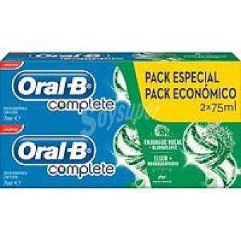 Oral-B Dentífrico complete enjuague+blanqueante duplo 75ml