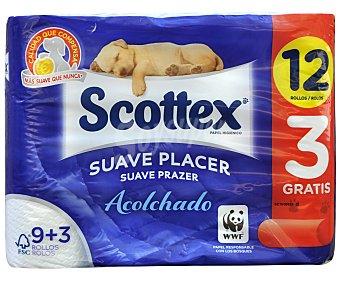 Scottex Papel Higiénico Acolchado 9 rollos