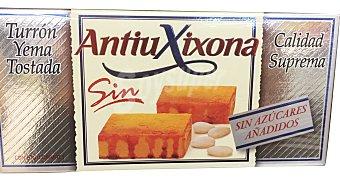 Antiu Xixona Turron sin azucar yema tostada Pastilla 200 g